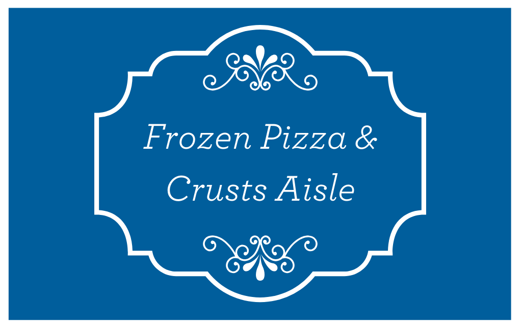 Frozen Pizza and Crusts Aisle